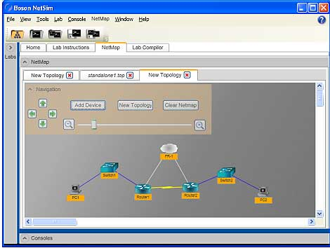 Cisco Network Simulator new topology image