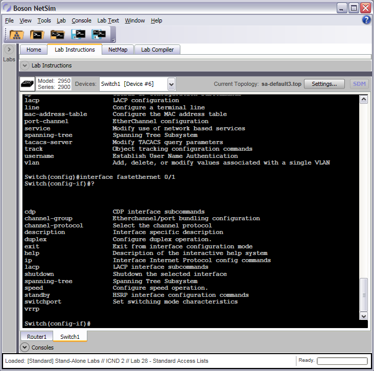 Interface Configuration Mode