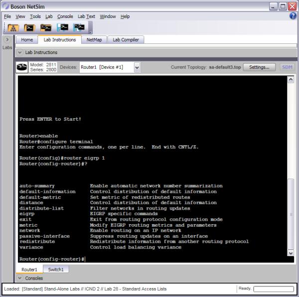 Router Configuration Mode Router Commands