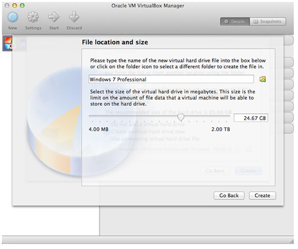 file location and size vm manager